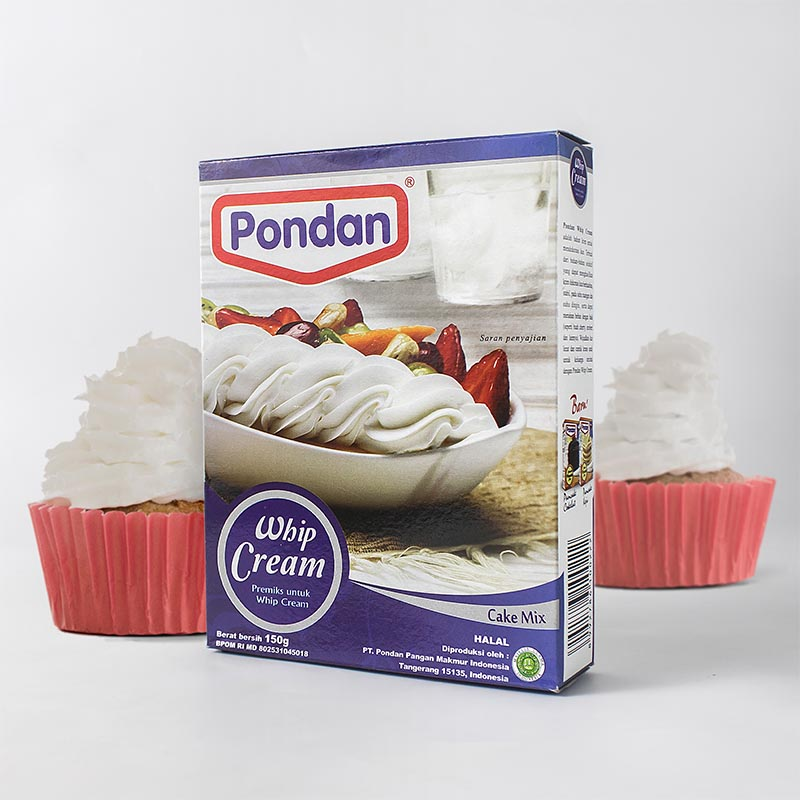 • Pondan Whip Cream