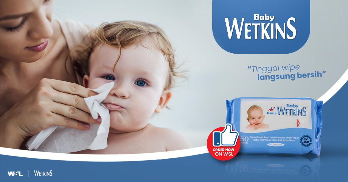 Wetkins Baby Wipes, Tisu Aman dan Praktis untuk Bayi dan Segala Aktivitas Anda