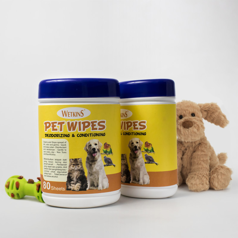 Wetkins Pet Wipes 80 S